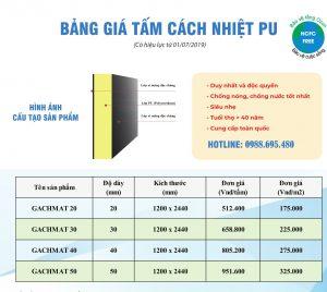Bảng báo giá gạch mát ( GACHMAT ) chống nóng rẻ nhất 2020